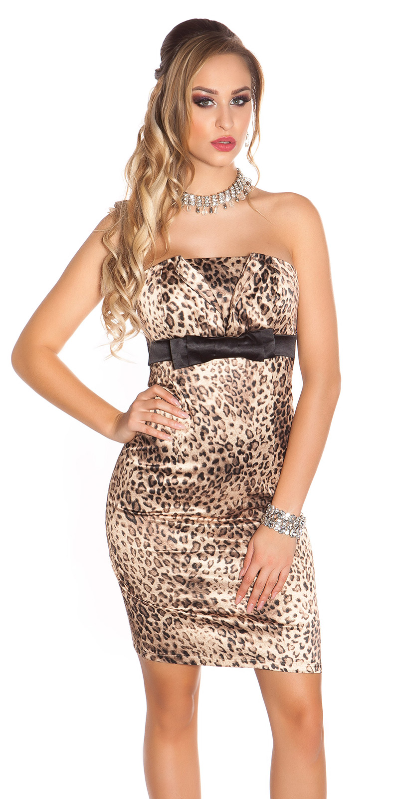 Koktejlové šaty 0000IDO-0874 - Leo