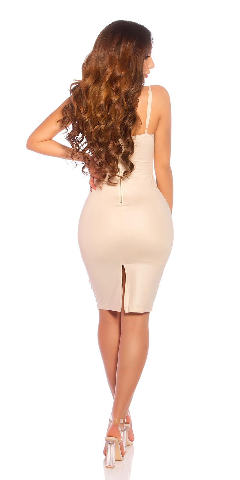 Krátké šaty 0000BK9477 - Beige