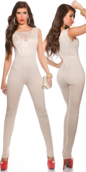 Sexy KouCla Overall mit sexy Spitze am Dekolletté