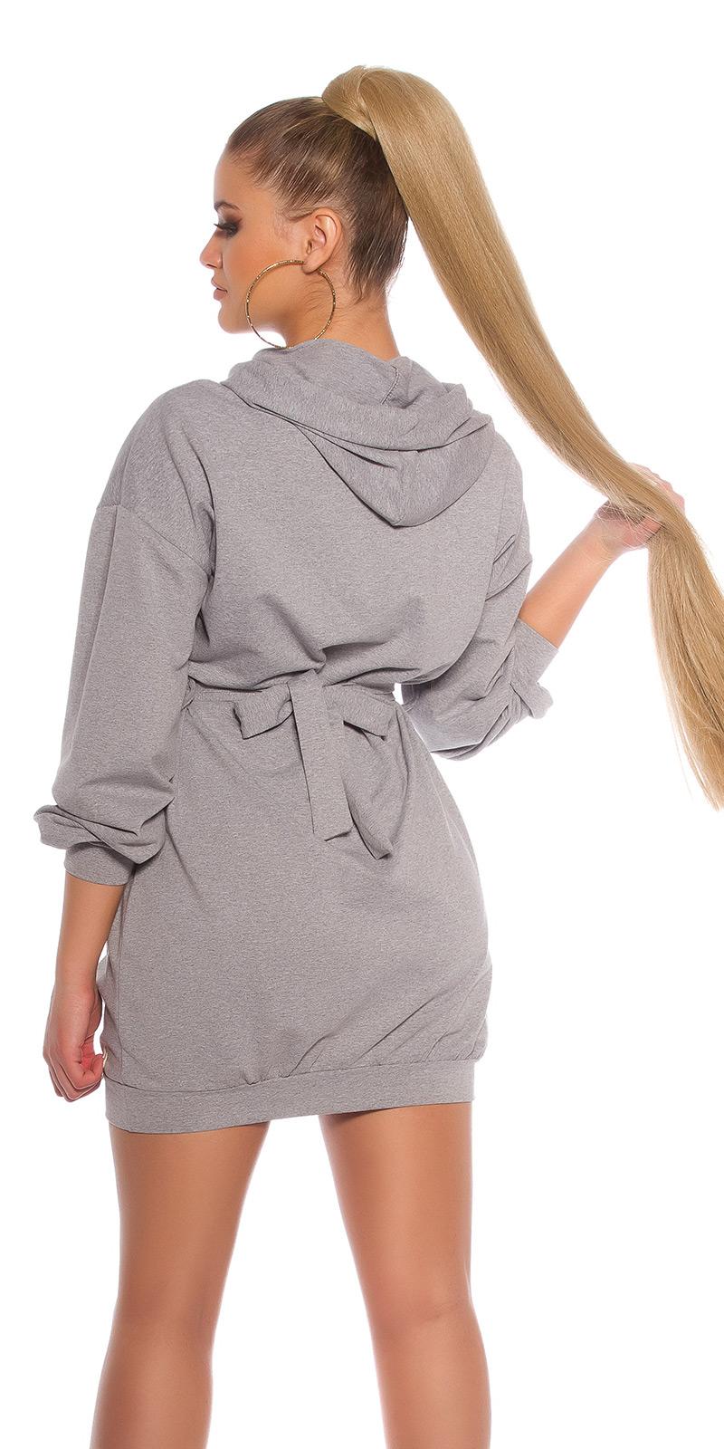 Šaty s dlouhým rukávem 0000BL15066 - grey