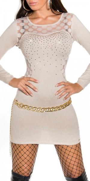 Sexy KouCla FeinstrickKleid seitlich transparent