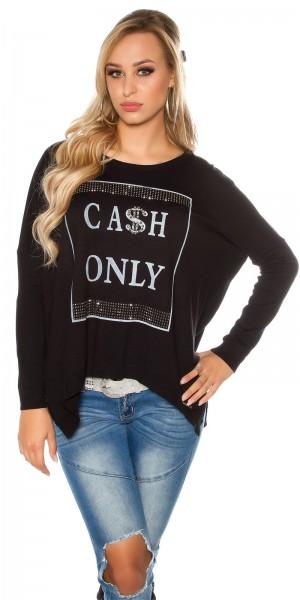 """Trendy Koucla Feinstrick Pullover """"Cash only"""""""