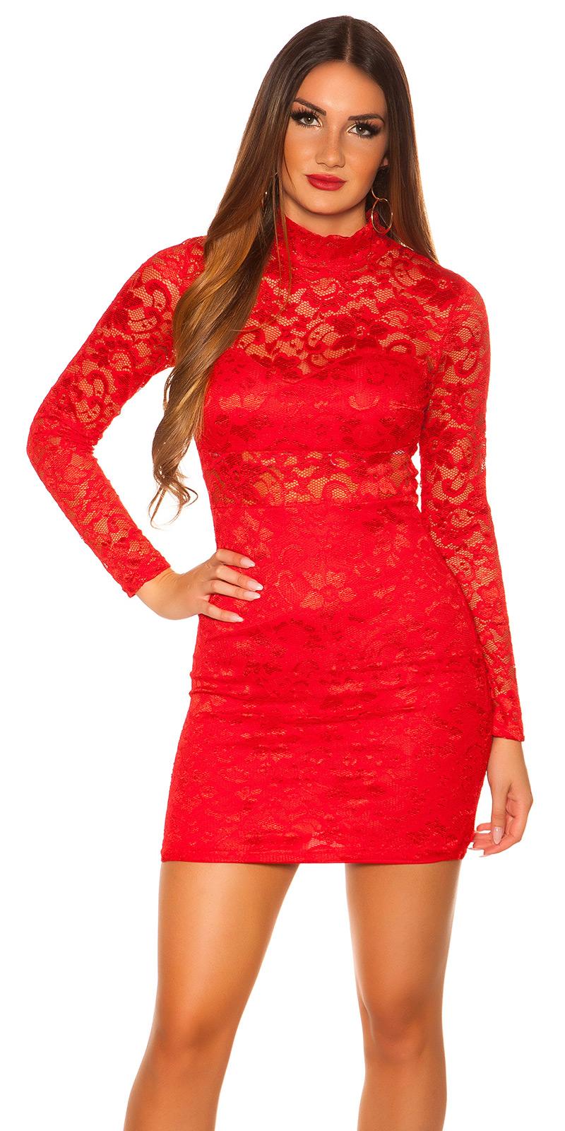 Šaty s dlouhým rukávem 0000IN50242 - red