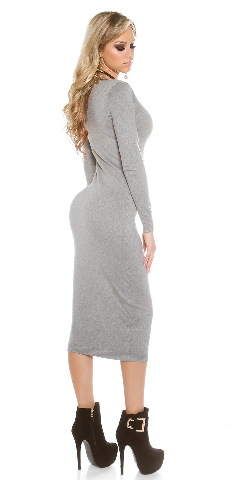 Dlouhé šaty 0000IN-201611 - grey