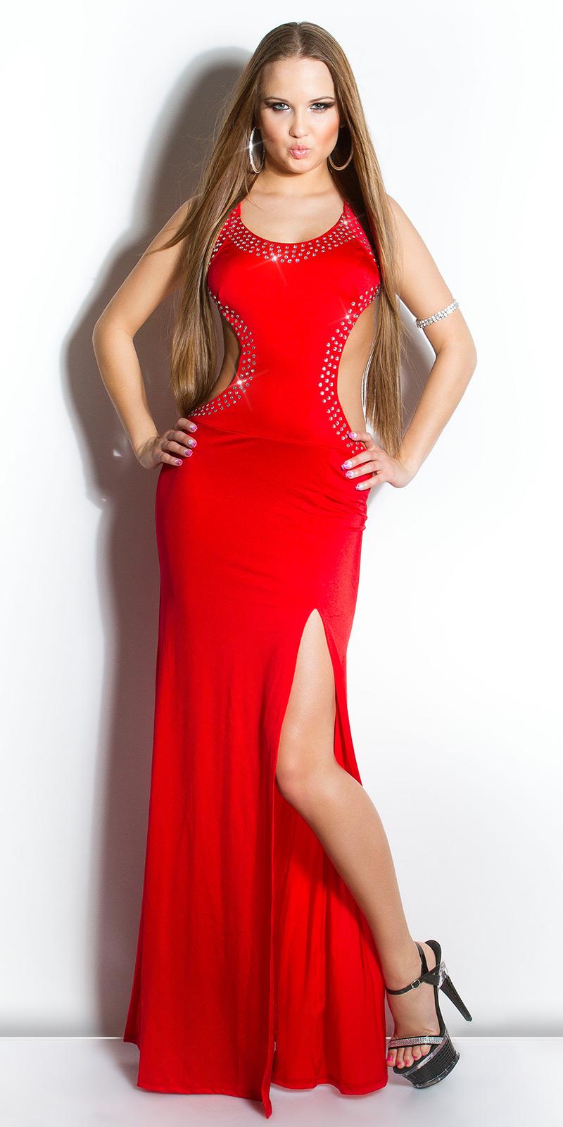 Dlouhé šaty 0000IN50095 - red
