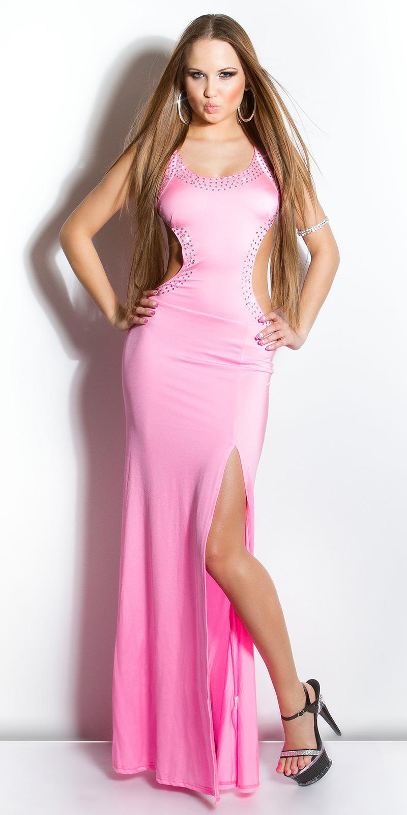 Dlouhé šaty 0000IN50095 - pink
