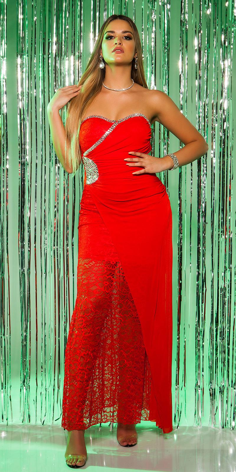 Plesové šaty 0000K9145 - red