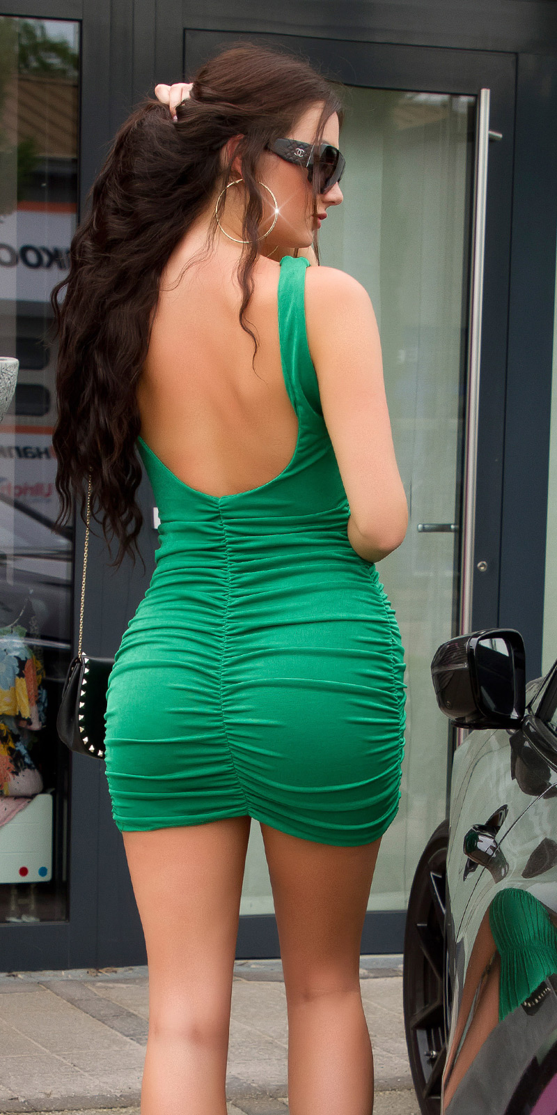Krátké šaty 0000K15248 - green
