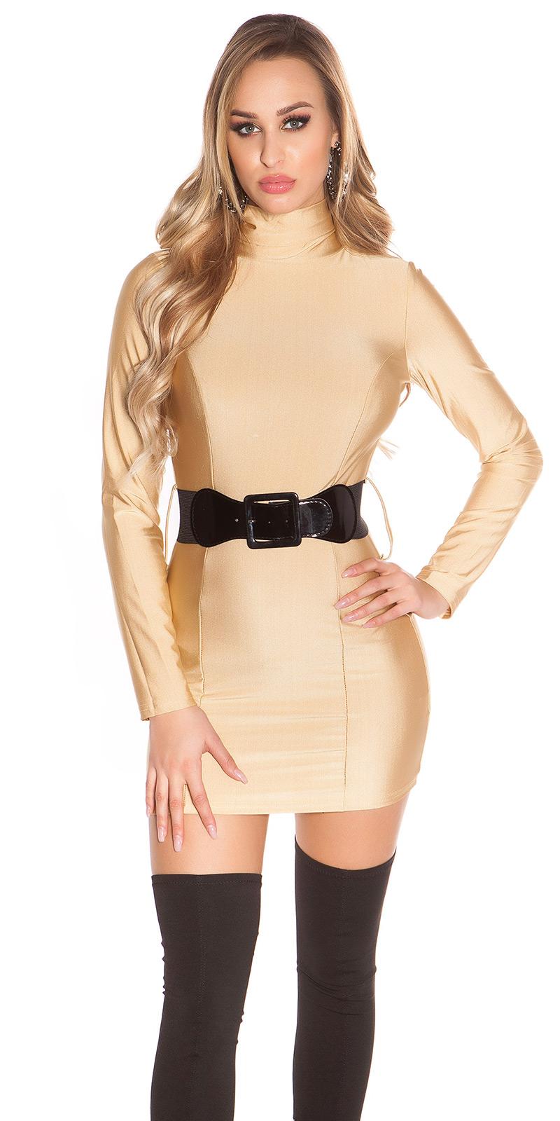 Šaty s dlouhým rukávem 0000ISF2245 - Beige