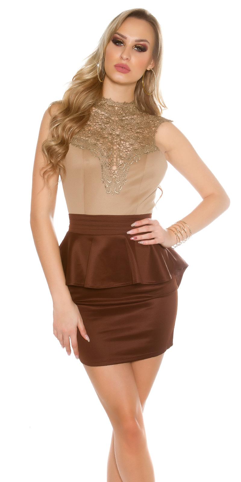Koktejlové šaty 0000IN50176 - Capuccino