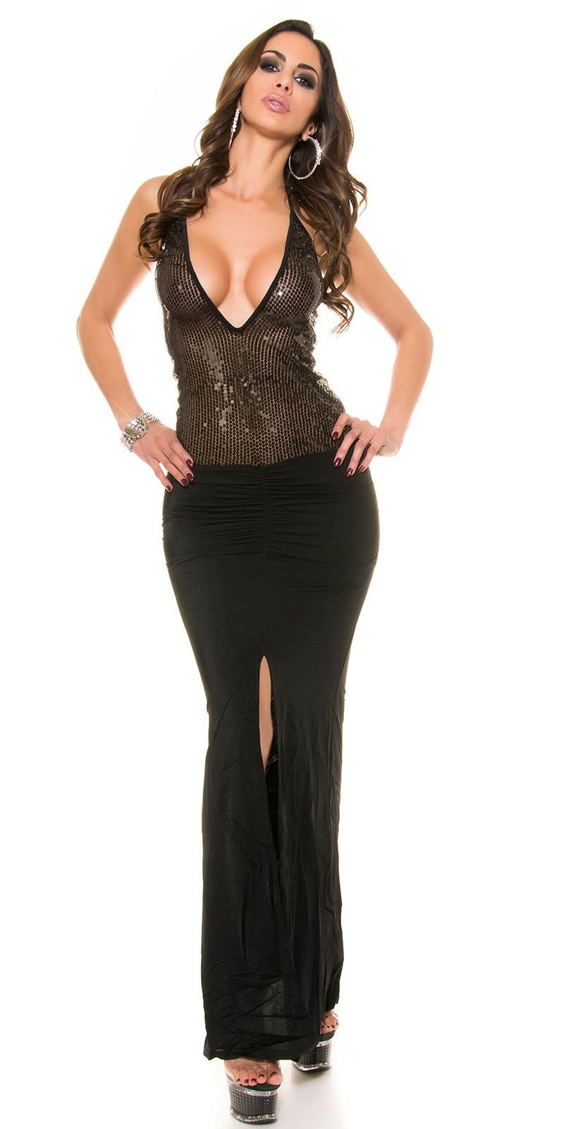 Dlouhé šaty 0000K1117N - Black