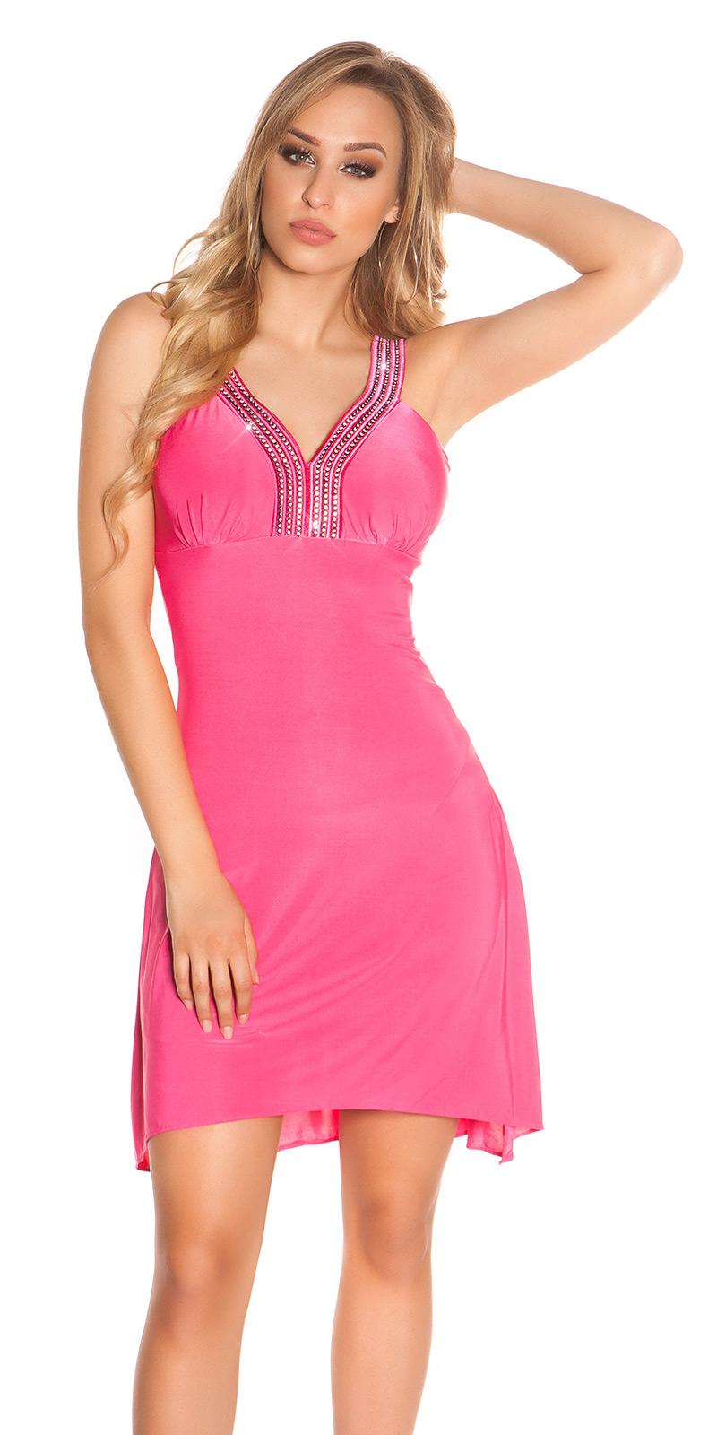 Plesové šaty 0000K4056 - Pink