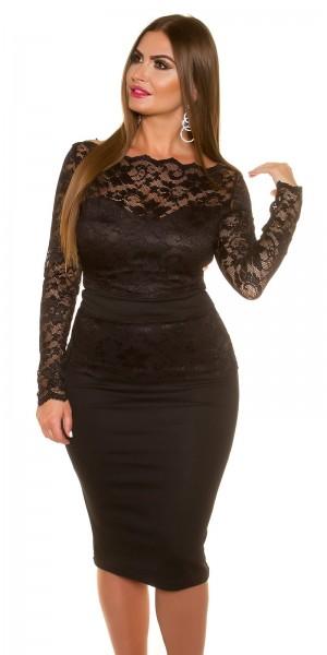 Curvy Girls Size!Sexy KouCla Midi-Dress mit Spitze