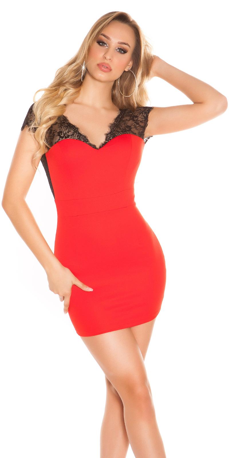 Krátké šaty 0000K18533 - red