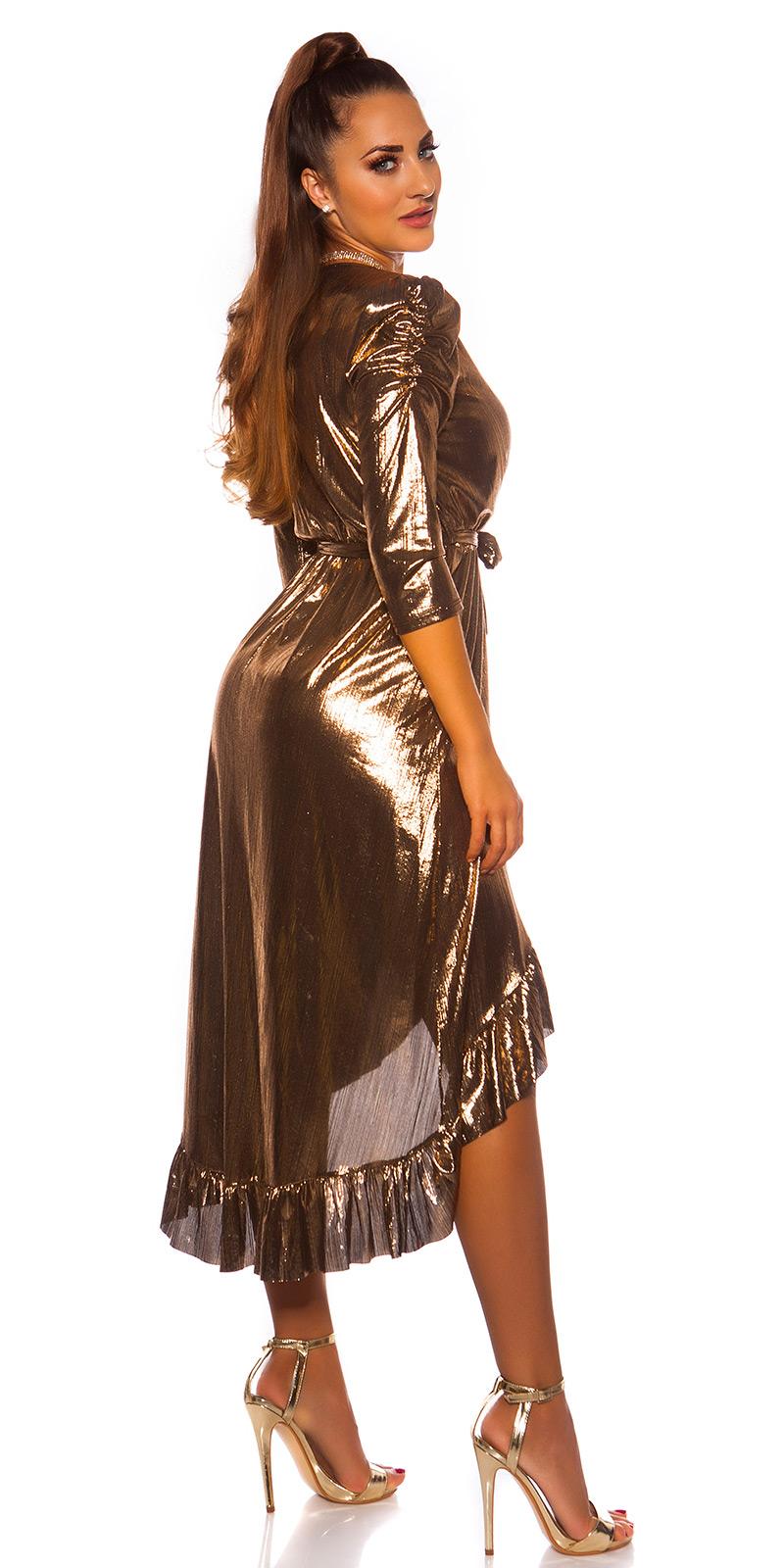 Plesové šaty 0000K3521 - Gold