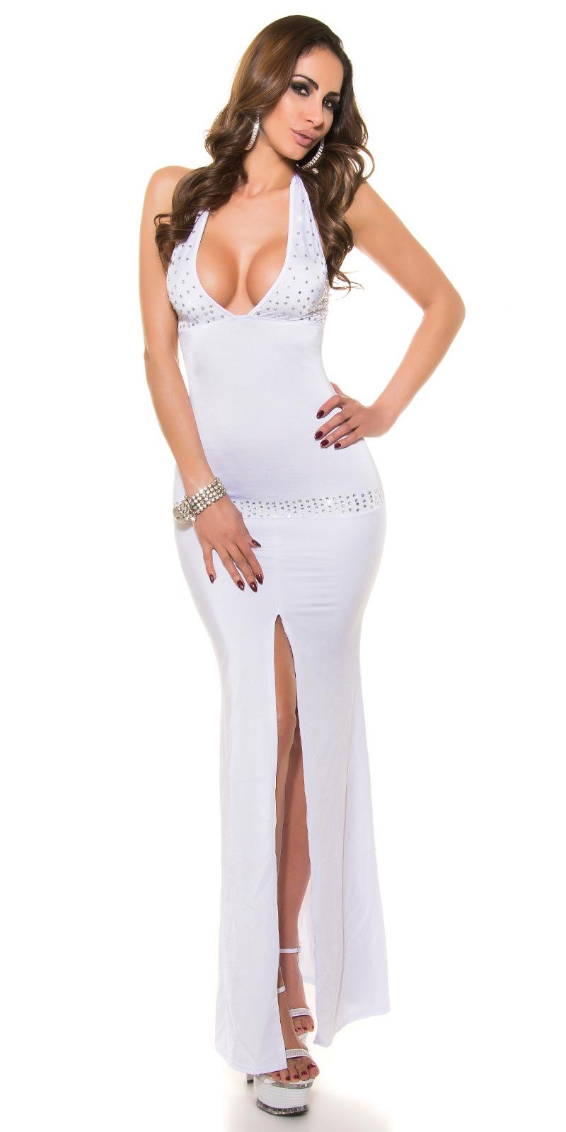 Dlouhé šaty 0000K12 - white