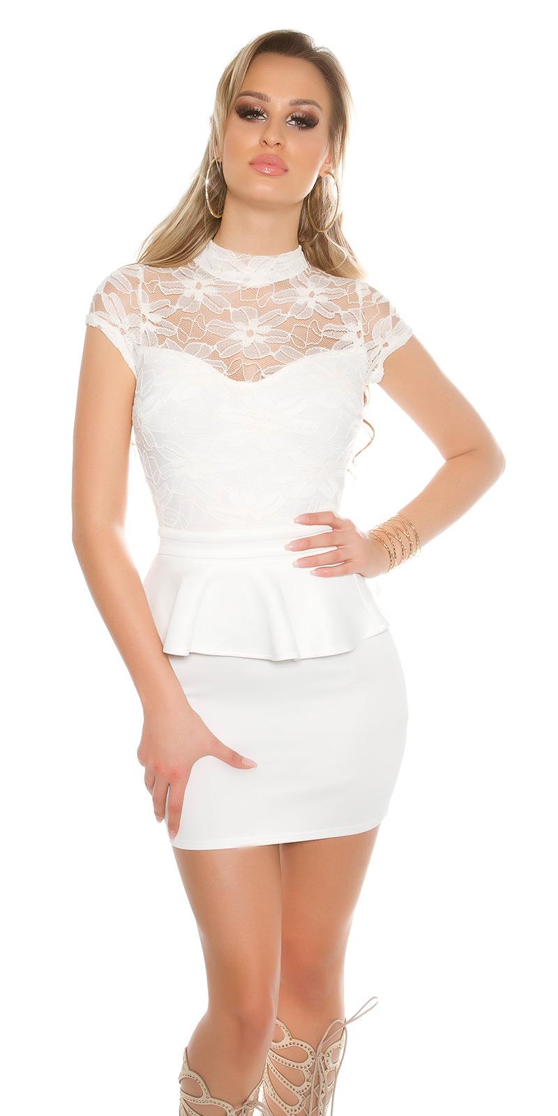 Koktejlové šaty 0000IN50215 - white