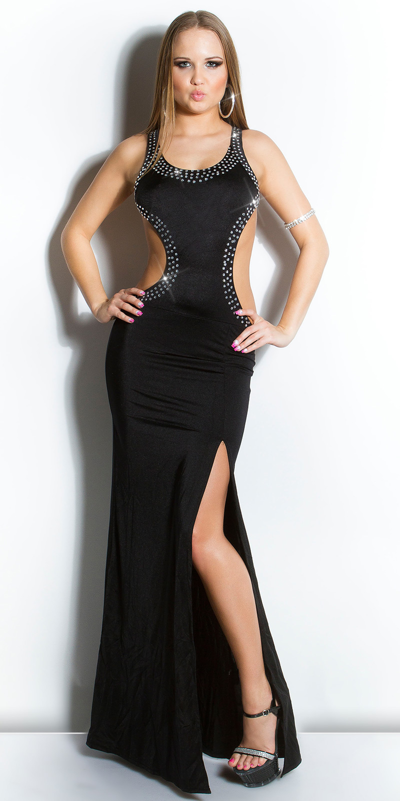 Dlouhé šaty 0000IN50095 - Black