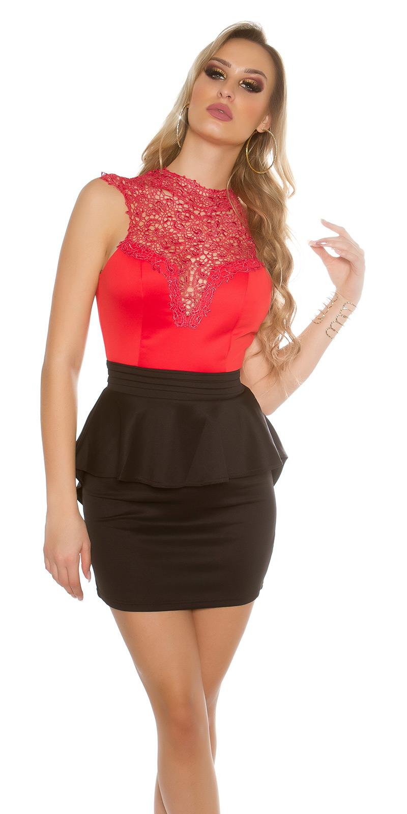 Koktejlové šaty 0000IN50176 - redblack