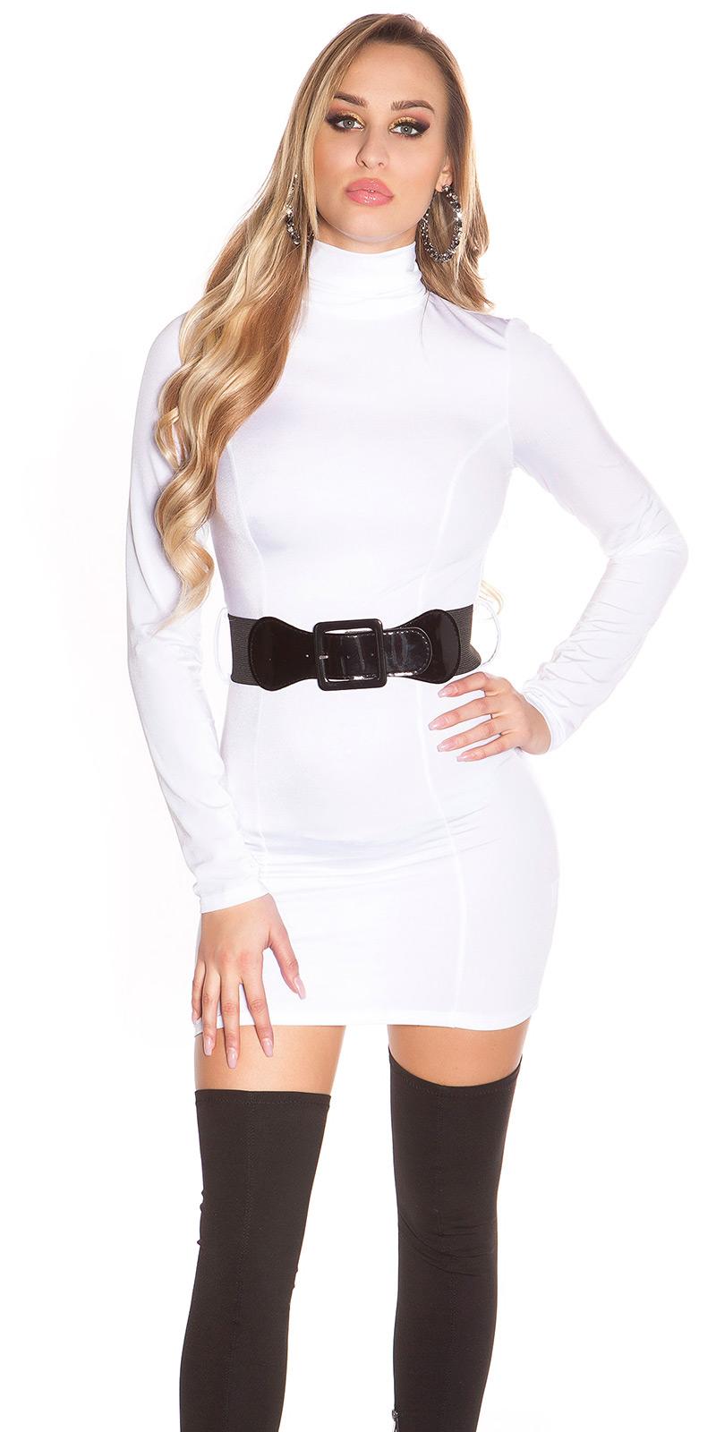 Šaty s dlouhým rukávem 0000ISF2245 - white