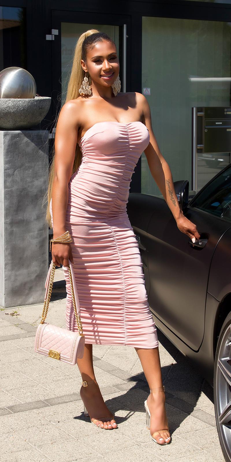 Dlouhé šaty 0000K14972 - pink
