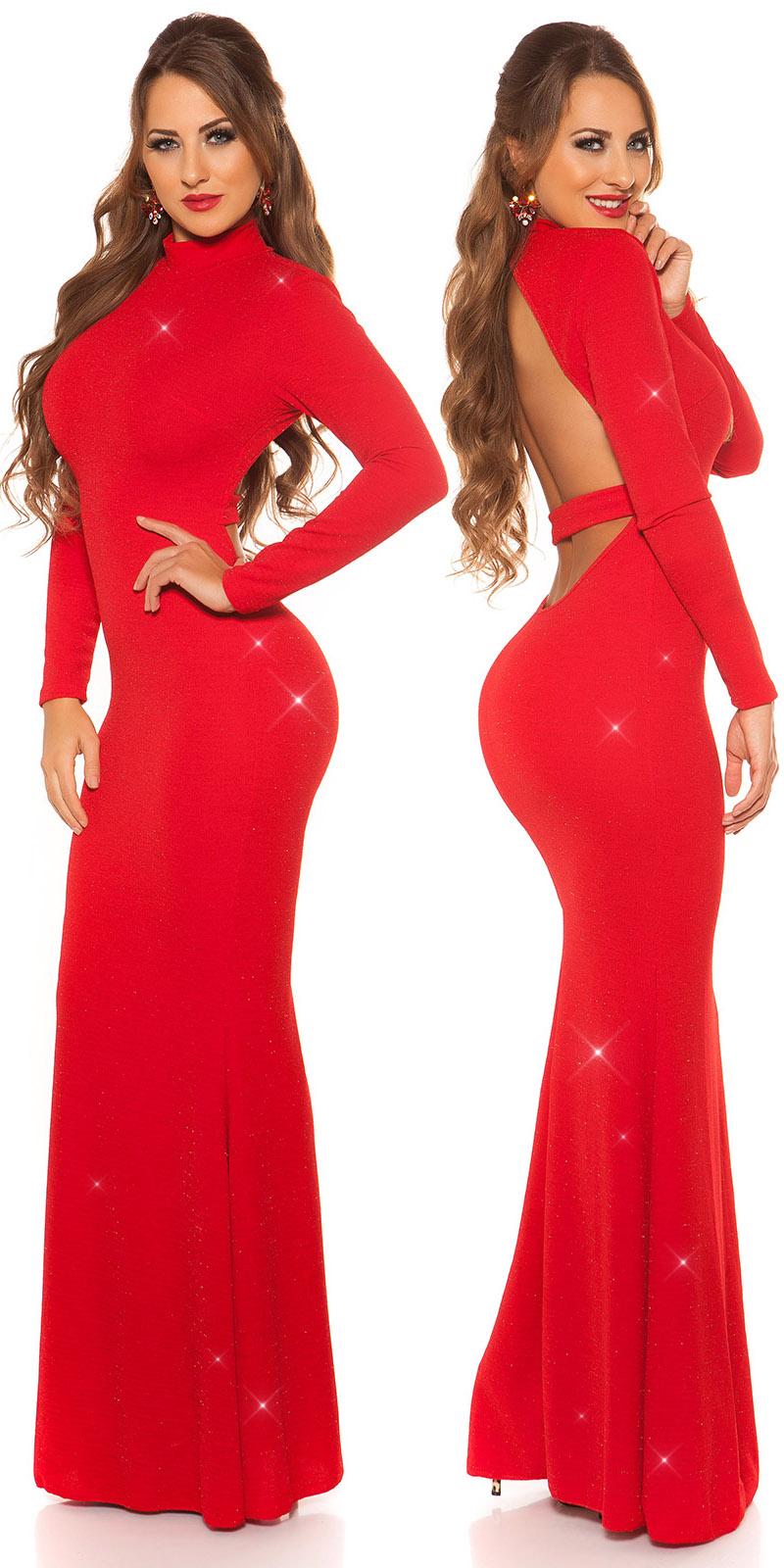 Plesové šaty 0000K198511 - red