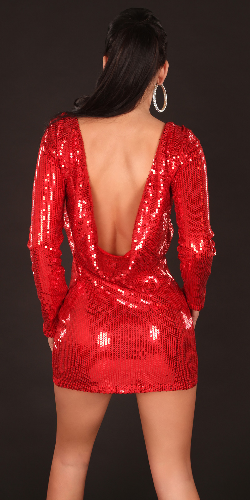 Plesové šaty 0000K2283 - red