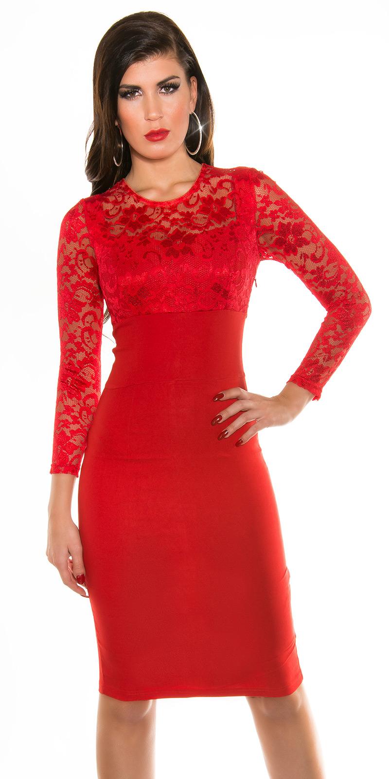 Plesové šaty 0000K9111 - red