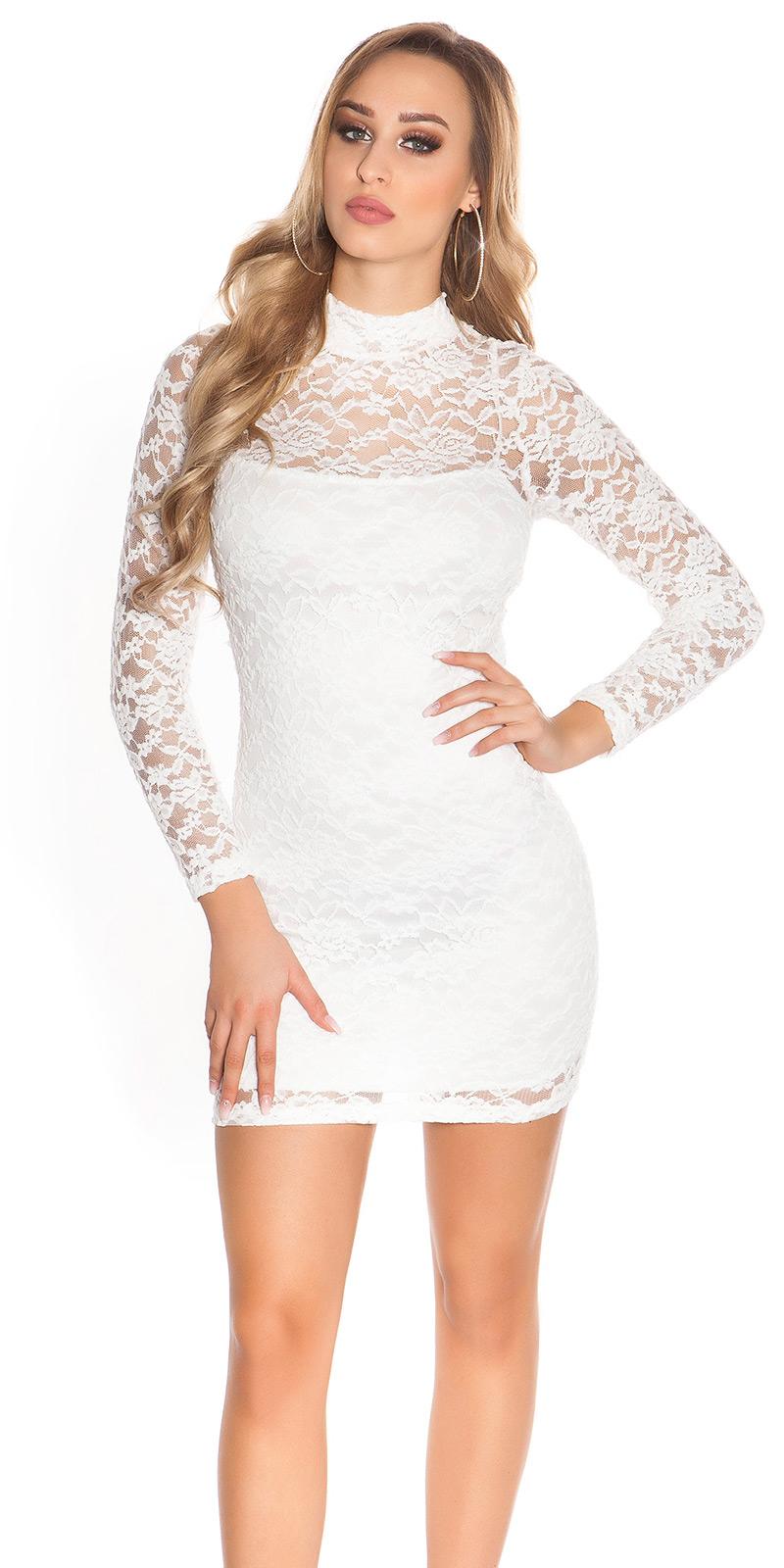 Šaty s dlouhým rukávem 0000IN50161 - white