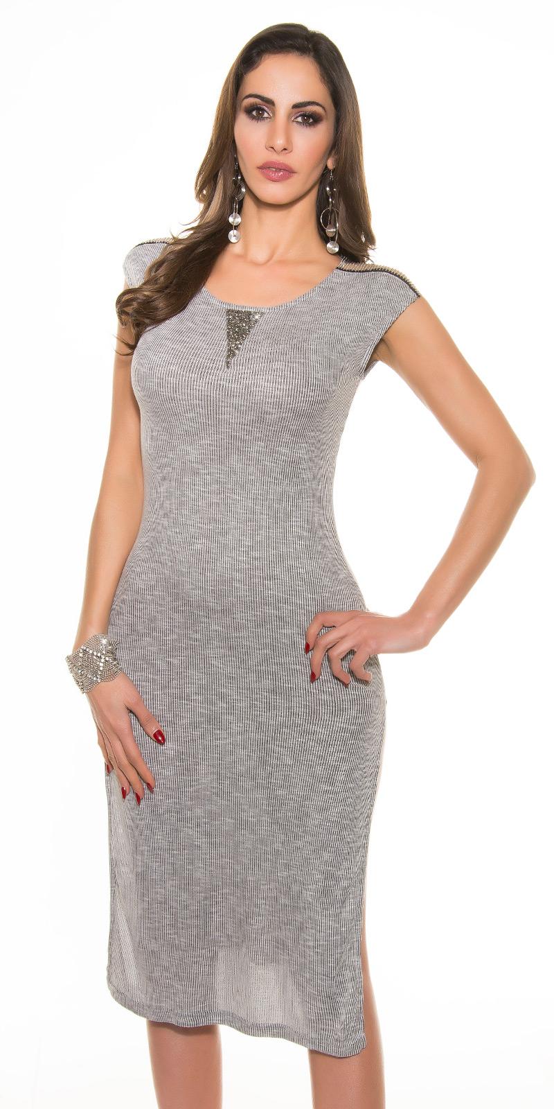 Dlouhé šaty 0000E039 - grey