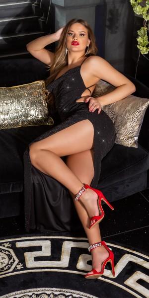 Sexy KouClaMaxi Abendkleid schulterfrei WOW!Rücken