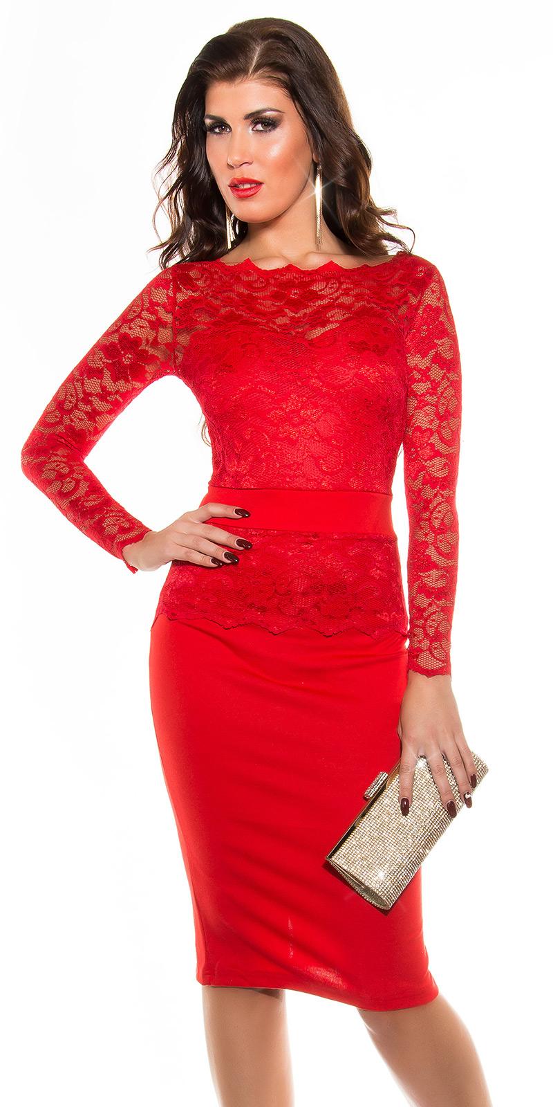 Dlouhé šaty 0000K18406 - red