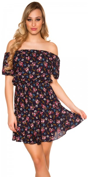 Trendy Off Shoulder Blütenkleid