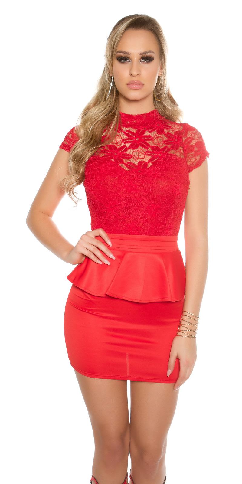 Koktejlové šaty 0000IN50215 - red