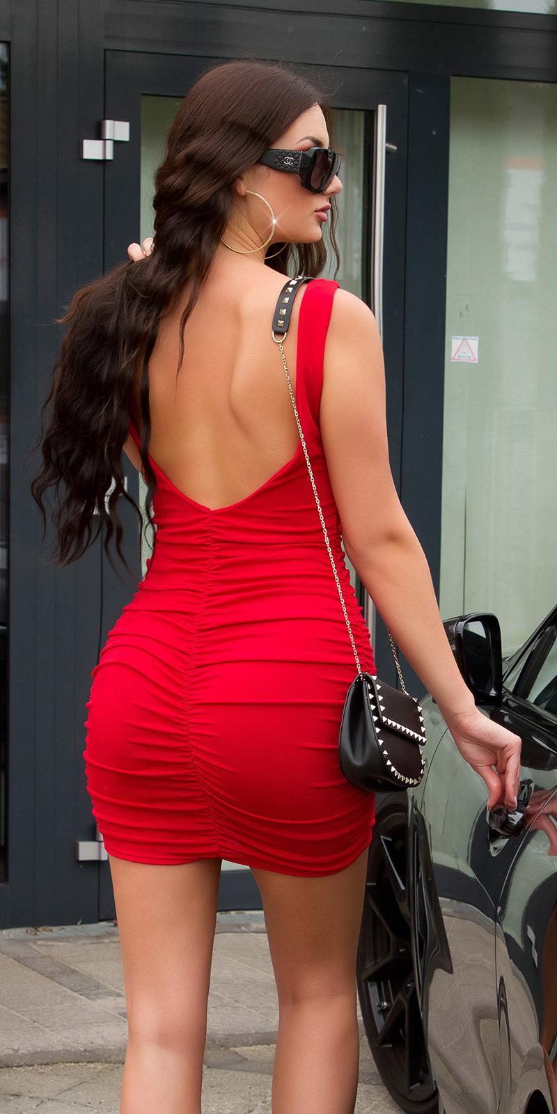 Krátké šaty 0000K15248 - red
