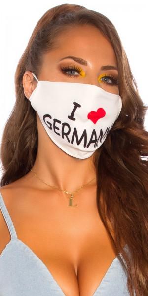 """5 Stück Alltags/Stoffmaske """"I love Germany"""""""